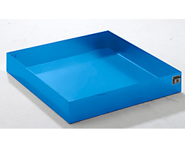 QUIPO Paletten-Auffangwanne - LxBxH 1200 x 1200 x 185 mm, blau RAL 5012