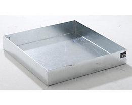 QUIPO Paletten-Auffangwanne - LxBxH 1200 x 1200 x 185 mm, feuerverzinkt