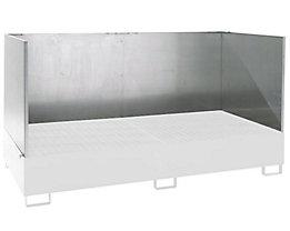 Spritzschutzwand - für Auffangwanne LxB 2650 x 1300 / 1460 mm - 3-seitig