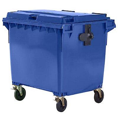 Conteneur à déchets 4 roues en plastique conforme à la norme NF EN 840 - capacité 1100 l