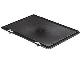 Verschluss-Deckel - für LxB 400 x 300 mm - schwarz, VE 5 Stk