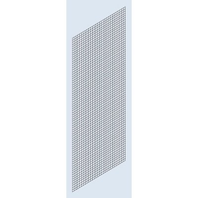 Habillage paroi latérale - grillage soudé, hauteur 2500 mm