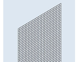 hofe Rückwand-Verkleidung - Schweißgitter-Ausführung - für Regalhöhe 2000 mm