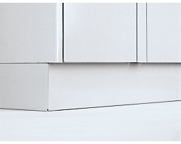 Sockel - Höhe 100 mm, für Schließfachschrank - Mehrpreis