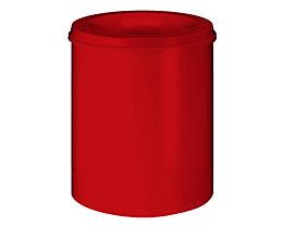 Papierkorb, flammverlöschend - Inhalt 80 l, Höhe 550 mm - Korpus rot RAL 3000 / Löschkopf rot RAL 3000