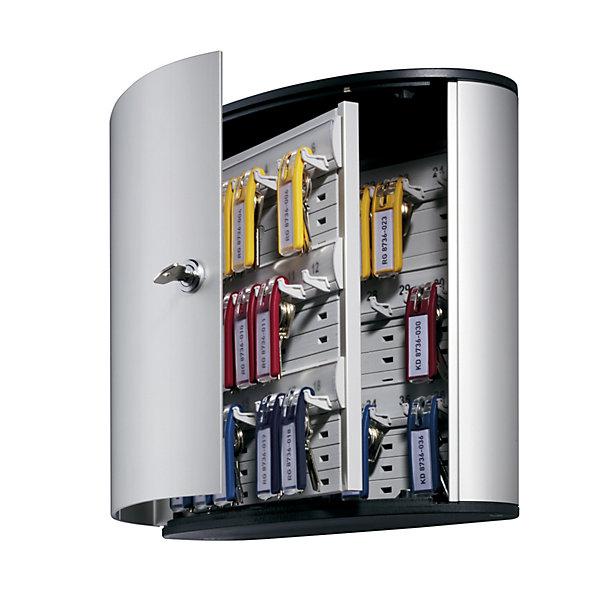 Durable Design-Schlüsselkasten - mit Sicherheitszylinderschloss - HxBxT 280 x 300 x 118 mm  36 Haken
