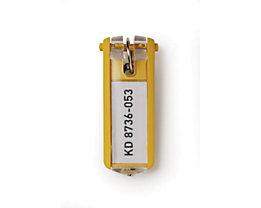 Durable Schlüsselanhänger - Verpackungseinheit 6 Stück - gelb