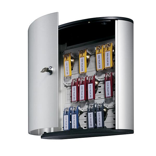 Durable Design-Schlüsselkasten - mit Sicherheitszylinderschloss - HxBxT 280 x 300 x 118 mm  18 Haken