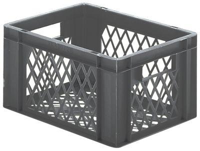 Euro-Format-Stapelbehälter, Wände und Boden durchbrochen - LxBxH 400 x 300 x 210 mm