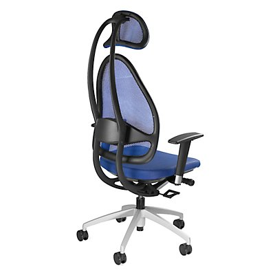 Topstar Design-Bürodrehstuhl, mit Kopfstütze und Netzrücken - Rückenlehnenhöhe gesamt 830 mm