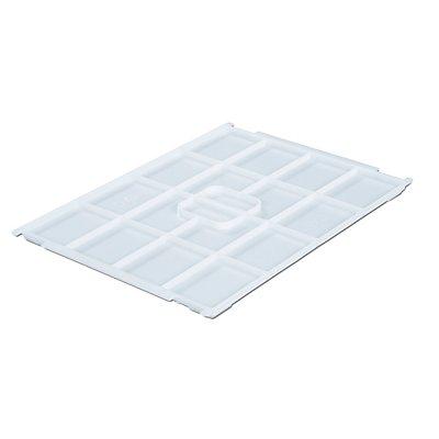 VECTURA Deckel aus Polypropylen - für Behälter-LxB 400 x 300 mm - natur, für 12 und 24 l