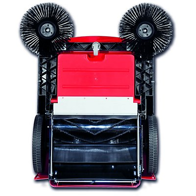 Kehrmaschine mit Seitenbesen - mit Einwalzen-Kehrschaufel, Behälterinhalt 50 Liter - Behälterinhalt 50 l
