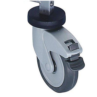 Montage-Rollhocker - aus Chromnickelstahl - LxBxH 450 x 450 x 500 mm