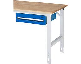 RAU Tisch-Unterbaucontainer - Höhe 150 mm, 1 Schublade - lichtgrau