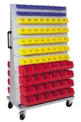 Sichtlagerkasten-Set - für Fahrregal HxBxT 1700 x 1053 x 600 mm
