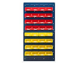 Sichtlagerkasten-Set - ohne Wandpaneel, für 2 Paneele mit HxB 480 x 500 mm
