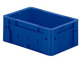 Schwerlast-Euro-Behälter, Polypropylen - Inhalt 4,1 l, LxBxH 300 x 200 x 120 mm, Wände geschlossen - Boden geschlossen, blau, VE 8 Stk