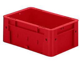 Schwerlast-Euro-Behälter, Polypropylen - Inhalt 4,1 l, LxBxH 300 x 200 x 120 mm, Wände geschlossen - Boden geschlossen, rot, VE 8 Stk