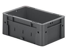 Schwerlast-Euro-Behälter, Polypropylen - Inhalt 4,1 l, LxBxH 300 x 200 x 120 mm, Wände geschlossen - Boden geschlossen, grau, VE 8 Stk