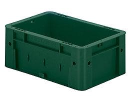 Schwerlast-Euro-Behälter, Polypropylen - Inhalt 4,1 l, LxBxH 300 x 200 x 120 mm, Wände geschlossen - Boden geschlossen, grün, VE 8 Stk