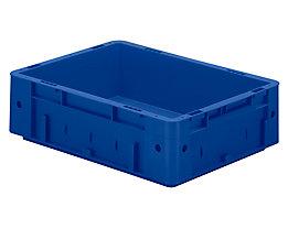 Schwerlast-Euro-Behälter, Polypropylen - Inhalt 9,2 l, LxBxH 400 x 300 x 120 mm, Wände geschlossen - Boden geschlossen, blau, VE 4 Stk