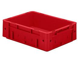 Schwerlast-Euro-Behälter, Polypropylen - Inhalt 9,2 l, LxBxH 400 x 300 x 120 mm, Wände geschlossen - Boden geschlossen, rot, VE 4 Stk