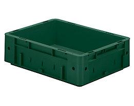 Schwerlast-Euro-Behälter, Polypropylen - Inhalt 9,2 l, LxBxH 400 x 300 x 120 mm, Wände geschlossen - Boden geschlossen, grün, VE 4 Stk