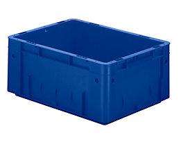 Schwerlast-Euro-Behälter, Polypropylen - Inhalt 14,5 l, LxBxH 400 x 300 x 175 mm, Wände geschlossen - Boden geschlossen, blau, VE 4 Stk