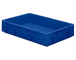 Schwerlast-Euro-Behälter, Polypropylen - Inhalt 20 l, LxBxH 600 x 400 x 120 mm, Wände geschlossen - Boden geschlossen, blau, VE 2 Stk