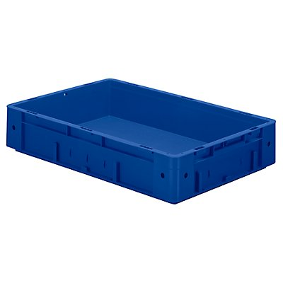 Schwerlast-Euro-Behälter, Polypropylen - Inhalt 20 l, LxBxH 600 x 400 x 120 mm, Wände geschlossen