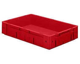 Schwerlast-Euro-Behälter, Polypropylen - Inhalt 20 l, LxBxH 600 x 400 x 120 mm, Wände geschlossen - Boden geschlossen, rot, VE 2 Stk