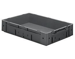 Schwerlast-Euro-Behälter, Polypropylen - Inhalt 20 l, LxBxH 600 x 400 x 120 mm, Wände geschlossen - Boden geschlossen, grau, VE 2 Stk