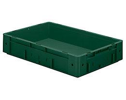 Schwerlast-Euro-Behälter, Polypropylen - Inhalt 20 l, LxBxH 600 x 400 x 120 mm, Wände geschlossen - Boden geschlossen, grün, VE 2 Stk