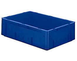 Schwerlast-Euro-Behälter, Polypropylen - Inhalt 31 l, LxBxH 600 x 400 x 175 mm, Wände geschlossen - Boden geschlossen, blau, VE 2 Stk