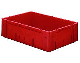 Schwerlast-Euro-Behälter, Polypropylen - Inhalt 31 l, LxBxH 600 x 400 x 175 mm, Wände geschlossen - Boden geschlossen, rot, VE 2 Stk