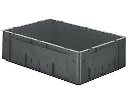 Schwerlast-Euro-Behälter, Polypropylen - Inhalt 31 l, LxBxH 600 x 400 x 175 mm, Wände geschlossen - Boden geschlossen, grau, VE 2 Stk