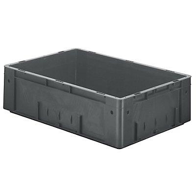 Schwerlast-Euro-Behälter, Polypropylen - Inhalt 31 l, LxBxH 600 x 400 x 175 mm, Wände geschlossen