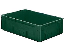 Schwerlast-Euro-Behälter, Polypropylen - Inhalt 31 l, LxBxH 600 x 400 x 175 mm, Wände geschlossen - Boden geschlossen, grün, VE 2 Stk