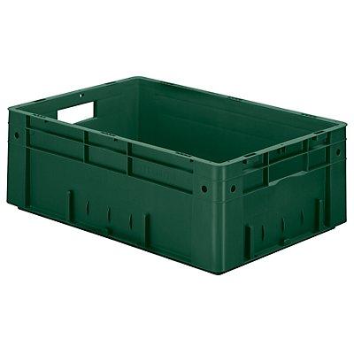 Schwerlast-Euro-Behälter, Polypropylen - Inhalt 38 l, LxBxH 600 x 400 x 210 mm, Wände geschlossen - Boden geschlossen, blau, VE 2 Stk