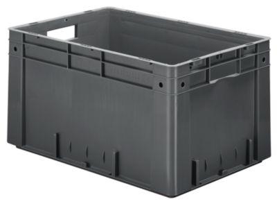 Schwerlast-Euro-Behälter, Polypropylen - Inhalt 60 l, LxBxH 600 x 400 x 320 mm, Wände geschlossen