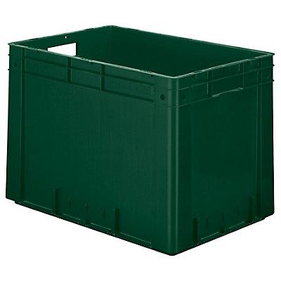 Schwerlast-Euro-Behälter, Polypropylen - Inhalt 80 l, LxBxH 600 x 400 x 420 mm, Wände geschlossen