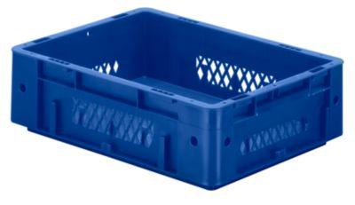Schwerlast-Euro-Behälter, Polypropylen - Inhalt 9,2 l, LxBxH 400 x 300 x 120 mm, Wände durchbrochen