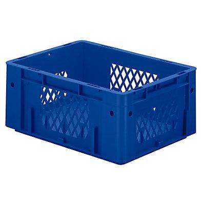 Schwerlast-Euro-Behälter, Polypropylen - Inhalt 14,5 l, LxBxH 400 x 300 x 175 mm, Wände durchbrochen