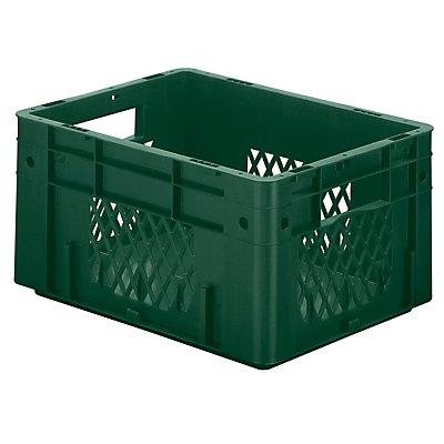 Schwerlast-Euro-Behälter, Polypropylen - Inhalt 17,5 l, LxBxH 400 x 300 x 210 mm, Wände durchbrochen
