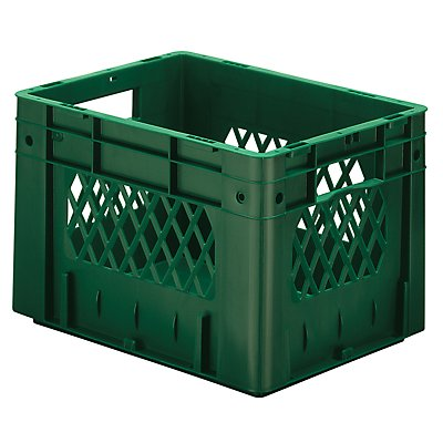 Schwerlast-Euro-Behälter, Polypropylen - Inhalt 23,3 l, LxBxH 400 x 300 x 270 mm, Wände durchbrochen