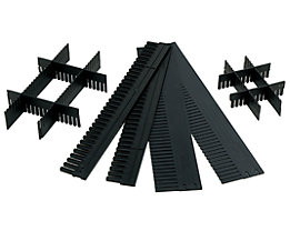 Unterteiler, individuell zuschneidbar - LxH 1150 x 80 mm, Stärke 5 mm - VE 10 Stk