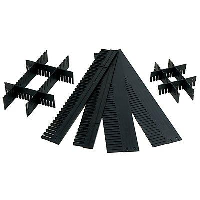 Unterteiler, individuell zuschneidbar - LxH 1150 x 120 mm, Stärke 10 mm - VE 10 Stk