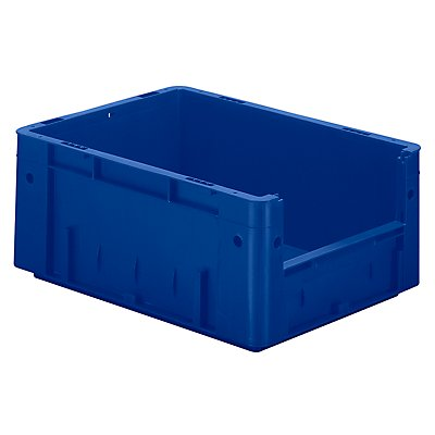 Euro-Stapelbehälter - Inhalt 14,5 l, Außen-LxBxH 400 x 300 x 175 mm, VE 4 Stk - blau