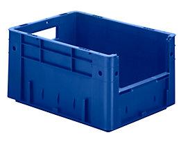 Euro-Stapelbehälter - Inhalt 17,5 l, Außen-LxBxH 400 x 300 x 210 mm, VE 4 Stk - blau