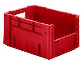 Euro-Stapelbehälter - Inhalt 17,5 l, Außen-LxBxH 400 x 300 x 210 mm, VE 4 Stk - rot